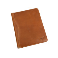 Texas Longhorn Leather Meeting Folder (CS601Tan)