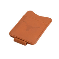 Texas Longhorn Leather Magnetic Money Clip (T235Clay)