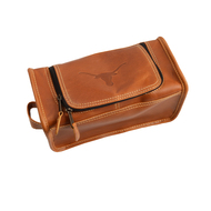 Texas Longhorn Leather Travel Case  (CS449)