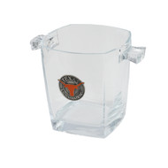 Texas Longhorn Square Ice Bucket with Pewter Medallion (SIB)