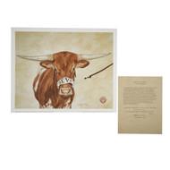 "Texas Longhorn ""Centennial Champion""  Bevo XV Signed Print by Cathy Munson"