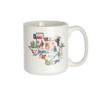 Kathleen McElwaine Texas Outline Mug