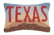 Texas Sunrise Crewel Pillow   30JES446C18OB