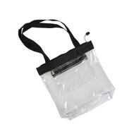 Clear Zipper Tote-Black (R4CST)