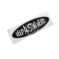 Keep Austin Weird Black Oval Sticker (1591STIC)