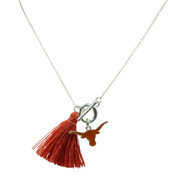 Texas Longhorn Norma Tassel  Necklace (33604620)