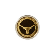 Texas Longhorn 24Kt Gold Plated Flip Coin