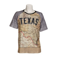Texas Map Short Sleeve Tee (TXMAPSS)