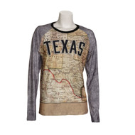 Texas Map Long Sleeve Tee (TXMAPLS)
