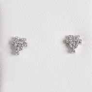 Texas Longhorn Rhodium UT Stud Earrings (S33538)