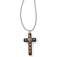 Brighton Byzantine Wood Cross Necklace (JL9200)