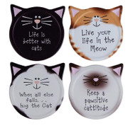 Cattitude Ceramic Coasters (Set of 4) (ICCOTD)