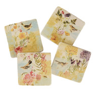 Birds in the Garden Coasters (Set of 4) (RMCSBG)