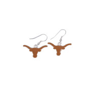 Texas Longhorn French Dangle Logo Earrings (TEX55561)