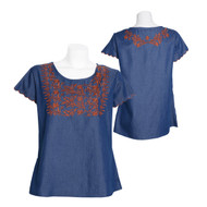 Parsley & Sage Shelby Embroidered Top (18T43B1)