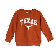 Texas Longhorn Toddler Arch TEXAS Fleece Pullover (ARCH-CREW-TDLR)