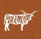 Texas Longhorn Mascot Coaster (Single) (FS-PLDUTX7D)