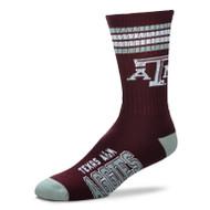 Texas A&M 4 Stripe Deuce Socks (504-U34)