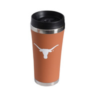Texas Longhorn Burnt Orange Satin Finish Travel Tumbler (SF6155BO)