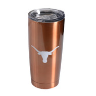 Texas Longhorn Copper Stainless Travel Mug (6820CP)