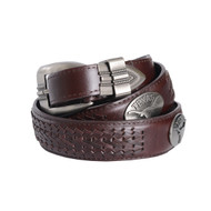 Texas Longhorn Concho Braid Belt (UTX-BOLPTBRD)