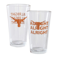 Texas Longhorn Alright Alright Alright Pint Glass (2023)