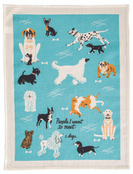 Blue Q People to Meet: Dogs Dish Towel (WW312)