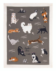 Blue Q People I Love: Cats Dish Towel (WW337)