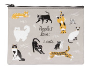 Blue Q People I Love: Cats Zipper Pouch (QA270)