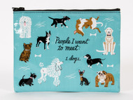 Blue Q People to Meet:Dogs Zipper Pouch (QA265)