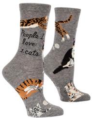 Blue Q People I Love: Cats Crew Socks (SW512)
