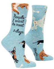 Blue Q People to Meet: Dogs Crew Socks (SW511)