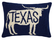 Texas in Longhorn Crewel Pillow (30JES826C16OB)