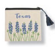 Texas Bluebonnet Tassel Pouch (19JES1104C)