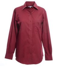 Foxcroft Petite Long Sleeve CVC Solid Blouse (26 Colors) (105110)