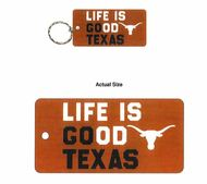 Texas Longhorn Life is Good Key Ring (32142)