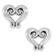Brighton Genoa Heart Mini Post Earrings (J21630)