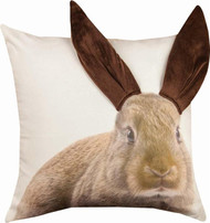 3D Brown Bunny Printed Pillow (IPPTBY)