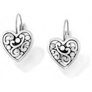 Brighton Contempo Heart Leverback Earrings (J19870)