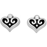 Brighton Alcazar Heart Mini Post Earrings (J21712)