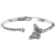 Brighton Solstice Butterfly Hinged Bangle (JF5910)