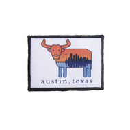 Austin the Hometown Steer Parch (Cityscape) (96802-PATCH)