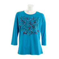 Sabaku Bouquet Hummingbirds 3/4 Sleeve Tee