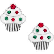 Brighton Holiday Cheer Cupcake Mini Post Earrings (J22073)