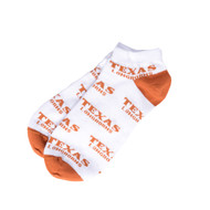 Texas Longhorn Repeat Ankle Socks (528TXLONGHORNRPT)