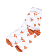 Texas Longhorn All Over UT Crew Socks (510-UTWORDMARKALLOVE)