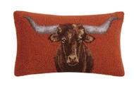 Longhorn Crewel Pillow (30SJM9826C20OB)