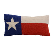 Texas State Flag Crewel Pillow (30HRS654C18)