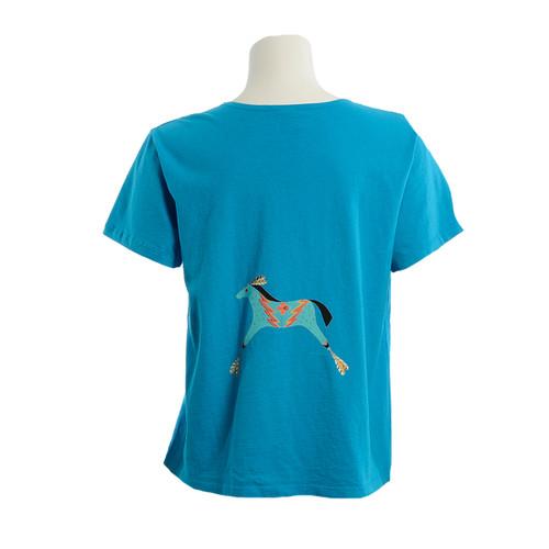 Sabaku Spirited Horses Short Sleeve Tee - back