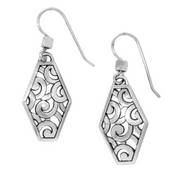 Brighton Deco Diamond French Wire Earrings (JA2980)